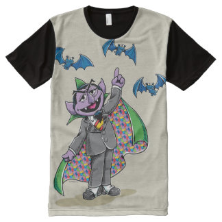 Vintage Count von Count All-Over Print T-Shirt