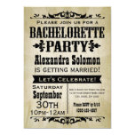 "Vintage Country Bachelorette Party Invitation 5"" X 7"" Invitation Card"