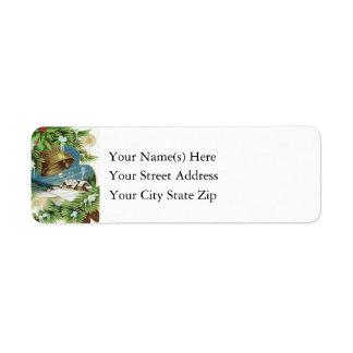 Vintage Country Christmas Return Address Label