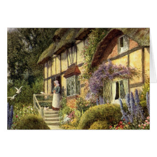 Vintage Country Cottage Bed and Breakfast Inn Greeting Card