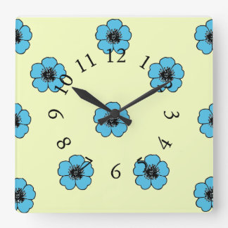 Vintage-Country-Cotton-Morning Glory*_Floral Wall Clock