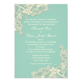 Vintage Country Floral Changeable Color 13 Cm X 18 Cm Invitation Card