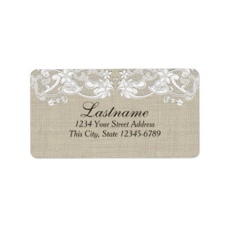 Vintage Country Floral Lace Address Label