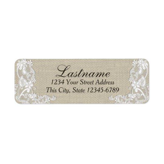Vintage Country Floral Lace Return Address Label