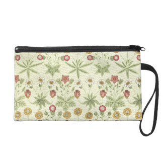 Vintage Country Floral Pattern Wristlet