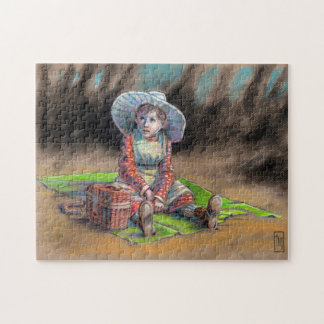 """""""Vintage Country Girl"""" 11x14 Picture Gift Puzzle"""