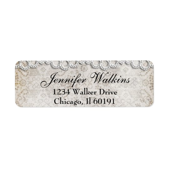 Vintage Country Lace Address Labels
