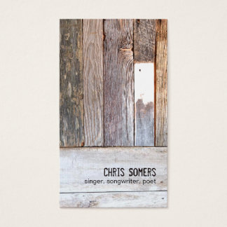 Vintage Country Nature Rustic Weathered Wood Business Card