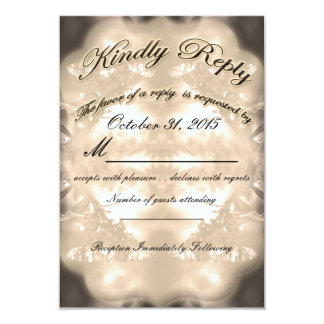 Vintage Country Rustic Wedding RSVP#1 by Deprise Card
