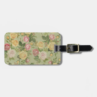 Vintage Country Weathered Floral Luggage Tag