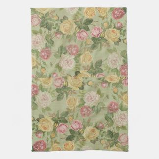 Vintage Country Weathered Floral Towels