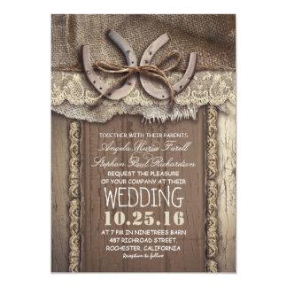 vintage country wedding invitations