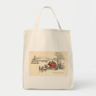 Vintage Countryside Organic Grocery Tote Tote Bags