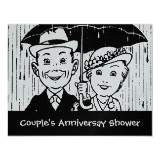 Vintage Couple 25th Anniversary Shower Invitation