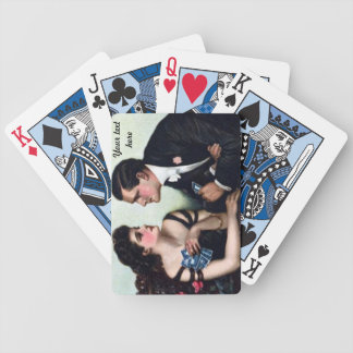 vintage couple card players customizable