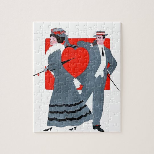 Vintage couple jigsaw puzzle