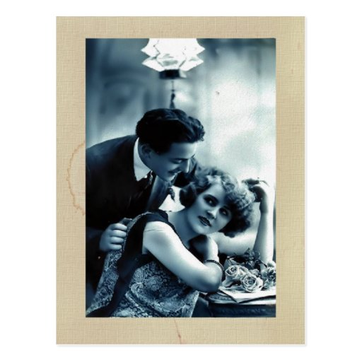 Vintage Couple Postcard