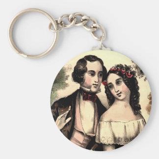 Vintage Couple Valentine Keychain