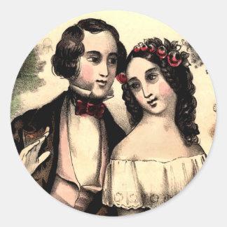 Vintage Couple Valentine Sticker