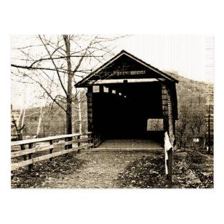 Vintage Covered Bridge Postcard