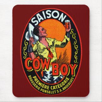 Vintage Cowboy Ale Mouse Pad