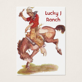 Vintage Cowboy Business Card