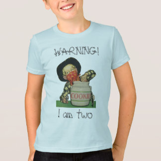 Vintage Cowboy in Cookie Jar, Warning, I am Two! T-Shirt