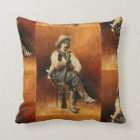 Vintage Cowboy Square Throw Cushion