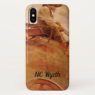 Vintage Cowboys, The Ore Wagon by NC Wyeth iPhone X Case