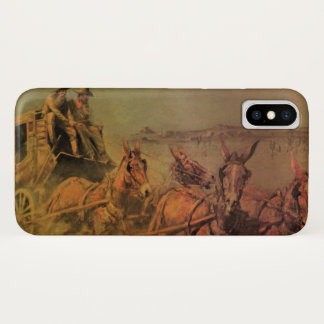 Vintage Cowboys, The Stage Coach by John Borein iPhone X Case