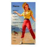 Vintage Cowgirl and Horse Pack Of Standard Business Cards