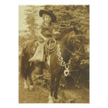 VINTAGE COWGIRL WESTERN  POSTER