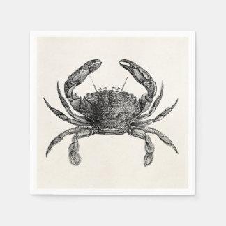 Vintage Crab Antique Crabs Personalized Template Disposable Serviette