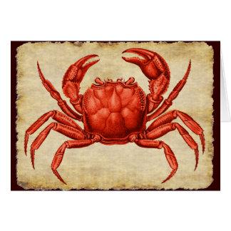 Vintage Crab Design Card
