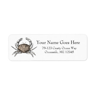 Vintage Crab Return Address Label