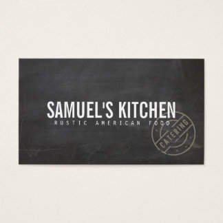 Vintage Craft Rustic Modern Chalkboard Business Card