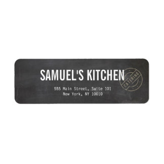 Vintage Craft Rustic Modern Chalkboard Return Address Label