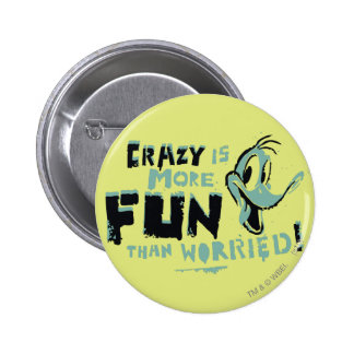 Vintage Crazy DAFFY DUCK™ 6 Cm Round Badge