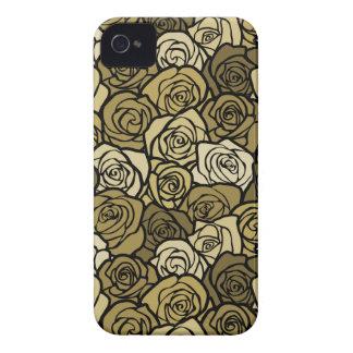 Vintage Cream & Beige roses BlackBerry Bold Case