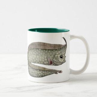 Vintage Crested Oarfish Fish,Marine Aquatic Life, Two-Tone Mug