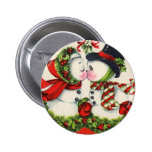 Vintage Crhistmas Kiss Buttons