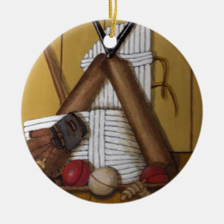 Vintage Cricket Ceramic Ornament