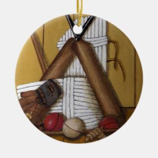 Vintage Cricket Ceramic Ornament