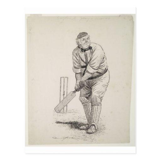 Vintage cricket player post cards