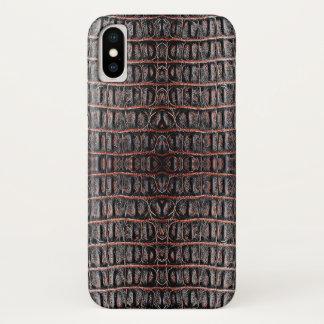 Vintage crocodile skin iPhone x case