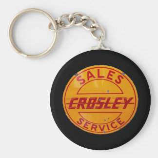 vintage crosley sales and service sign key ring