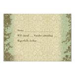 Vintage Cross patterned rsvp with envelope 9 Cm X 13 Cm Invitation Card