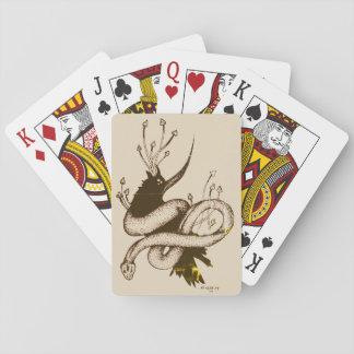 Vintage Crow n Mushroom Playing Cards