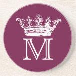 Vintage Crown Monogram Coasters