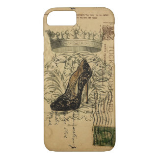 vintage crown paris fashion queen Stiletto iPhone 8/7 Case